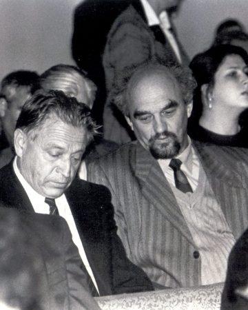 И.Н. Смирнов и А.И. Большаков обсуждают Закон о языках